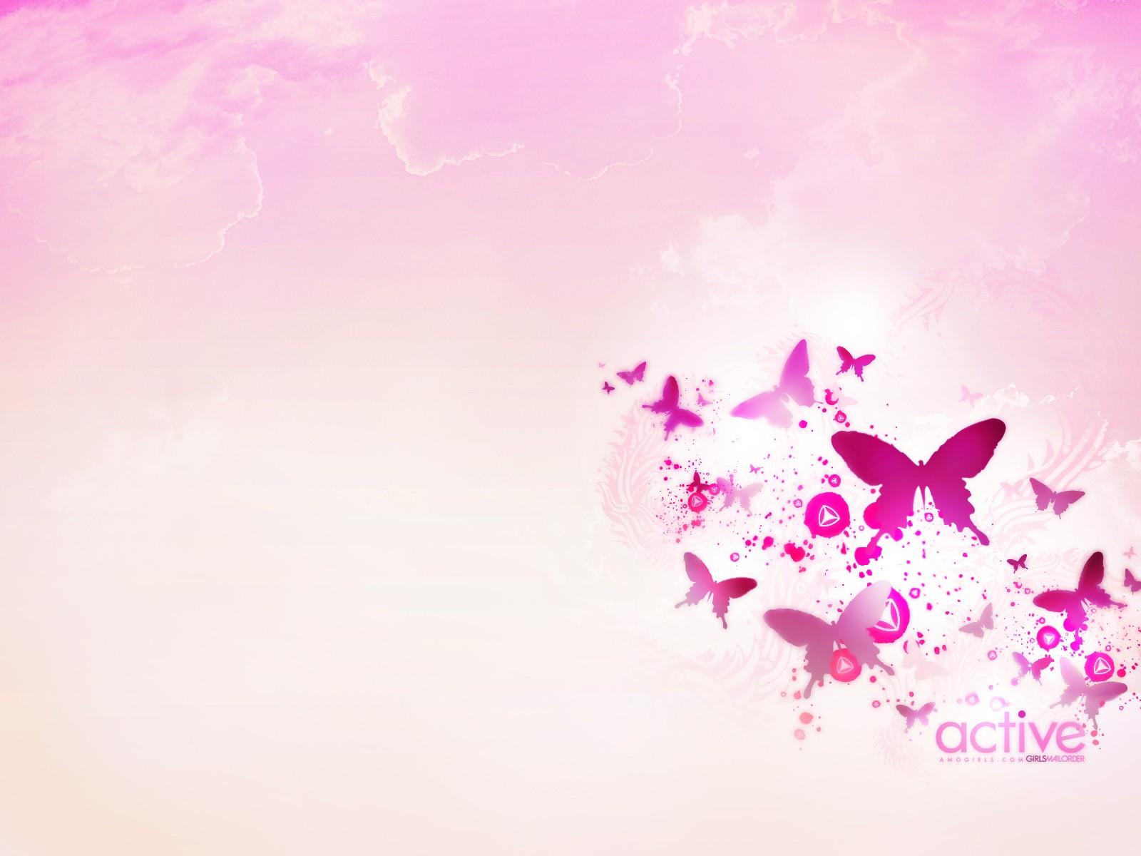 первые бабочки - обои, фото, картинки розовые, цветные на рабочий стол.