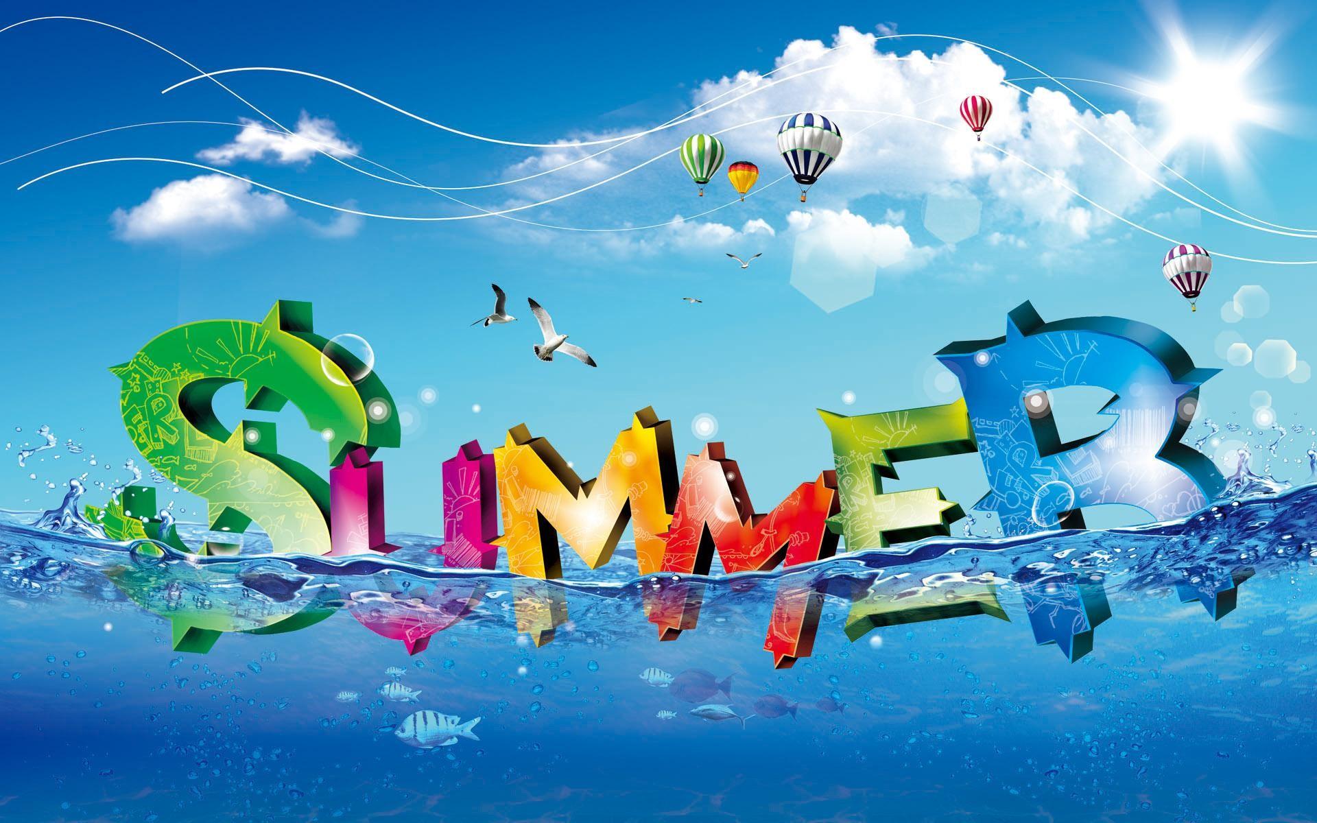 Обои рабочего стола графика лето лето