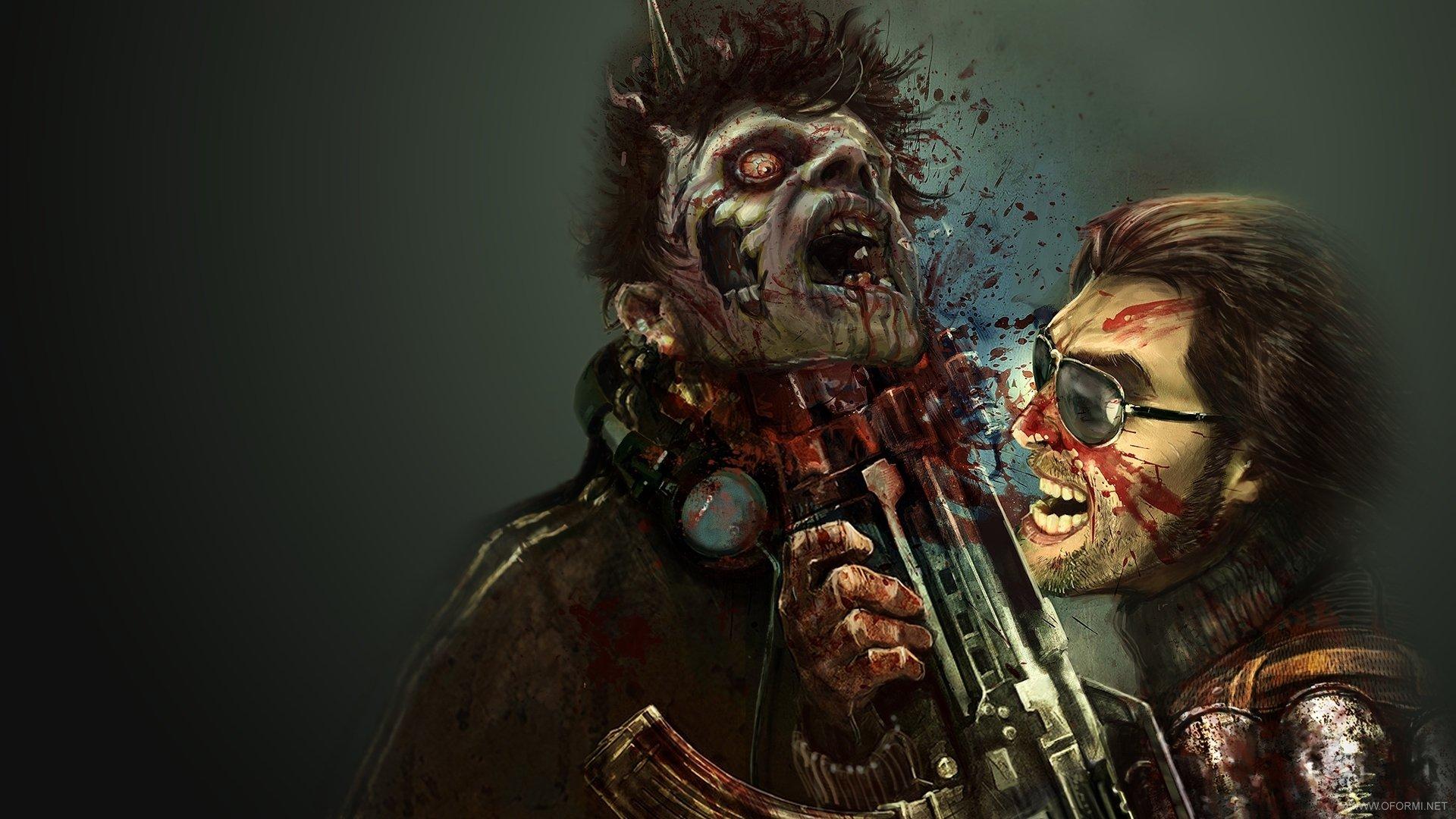 Обои на рабочий стол зомби девушки