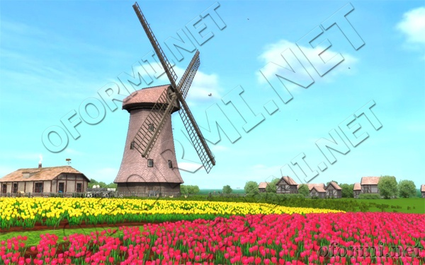 3D Windmill Screensaver