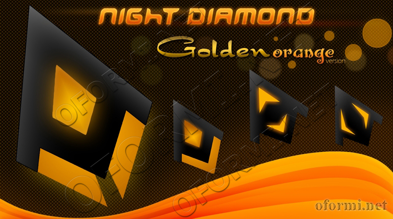 Night Diamond Golden Orange Version
