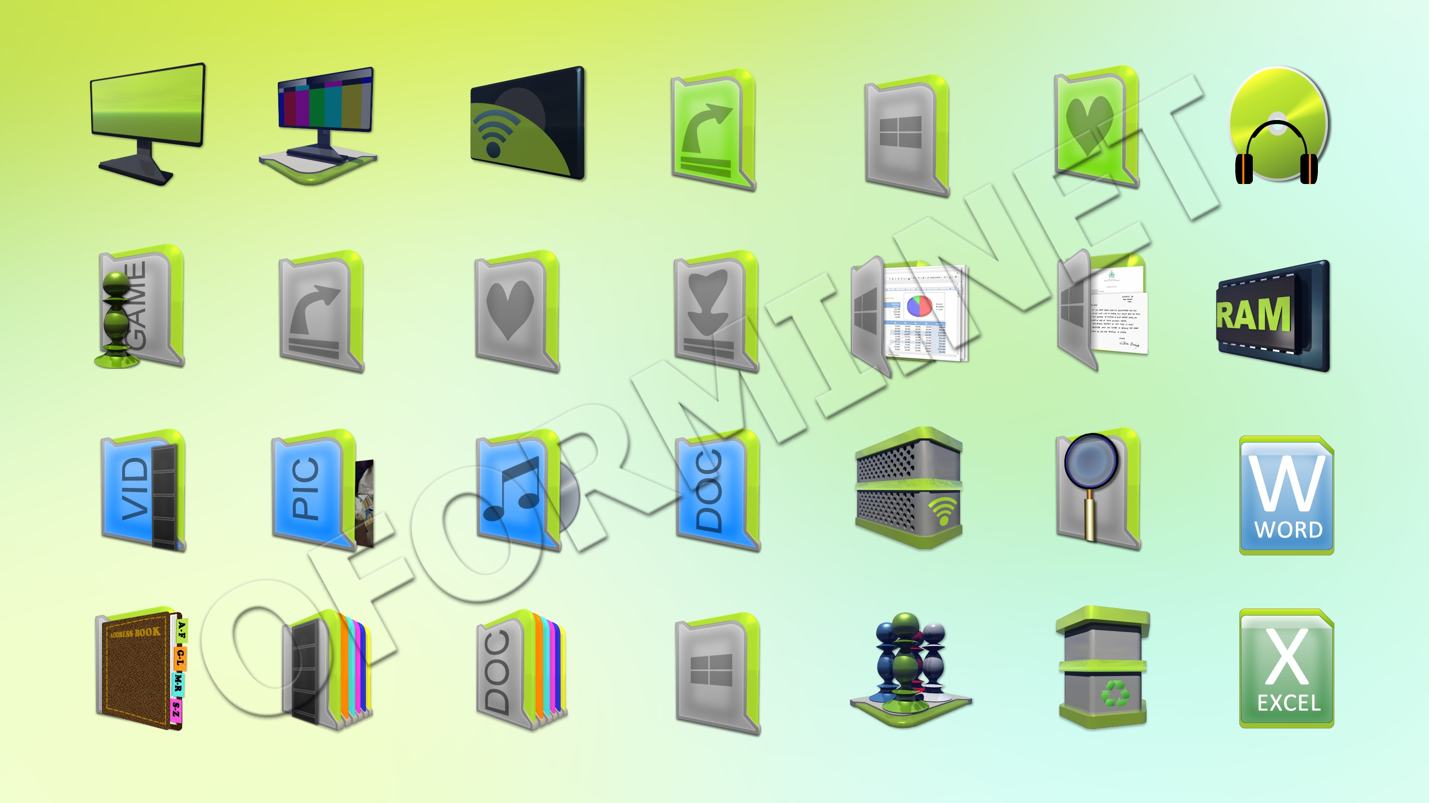 иконки для iconpackager: