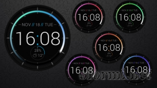 Patterned clock hd