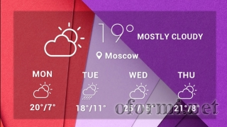 Clear Glass Forecast Widget